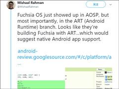 开发人员曝光谷歌自研操作系统Fuchsia