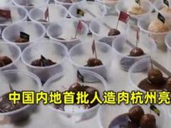 首批国产人造肉亮相杭州阿里食堂