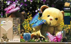泰迪熊的思念xp主题下载