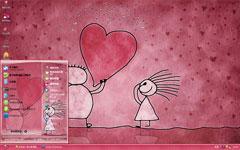 爱你的心xp主题下载