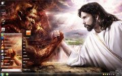 耶稣与撒旦win7电脑主题