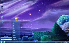 炫紫夜色win7电脑主题