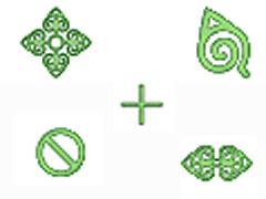 绿色图案鼠标指针