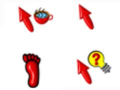 紅色3D圖案鼠標指針