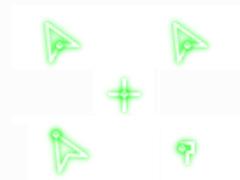 熒光綠鼠標指針