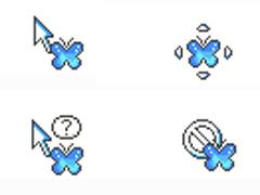 水晶藍蝴蝶鼠標指針