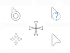 简洁白色鼠标指针