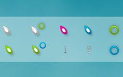 五颜六色叶子鼠标指针
