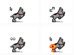 灰色小狗鼠標指針