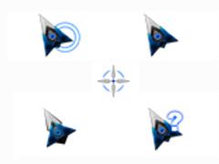 深蓝蝙蝠鼠标指针