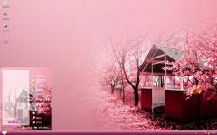 浪漫粉色樱花季xp主题