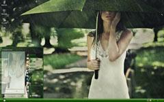 雨中落寞的美女倩影xp主题