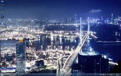 香港夜晚美景Win7主题