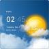 透明时钟天气
