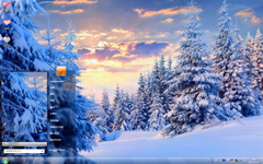 漫山白雪唯美风景Win7主题