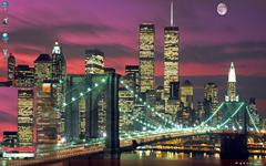 绚丽的城市风光Win7主题