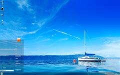 蓝色大海自然风景Win7主题