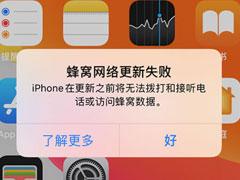 蜂窝网络更新失败?你的iPhone可能要拿去维修了