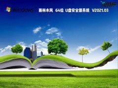 雨林木風Win7 64位U盤安全版系統 V2021.03